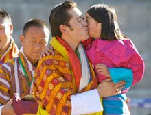 Very much shut off from the world, the young Bhutan king gets lots of love from a happy and simple people